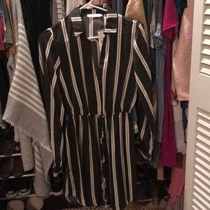 Women's Lush long sleeve drawstring waist dress